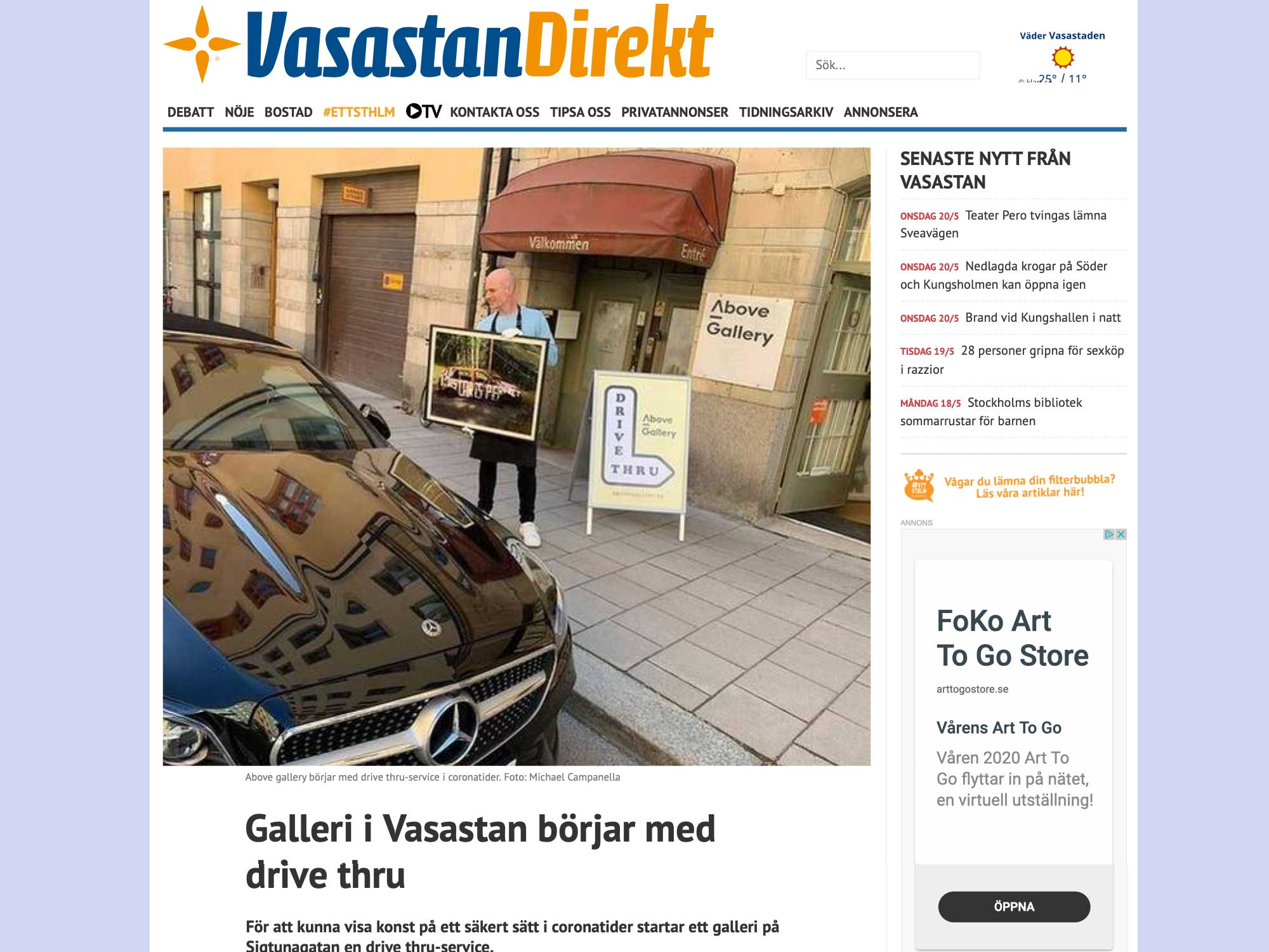 You are currently viewing Vasastan Direkt om Above Gallerys Drive thru service