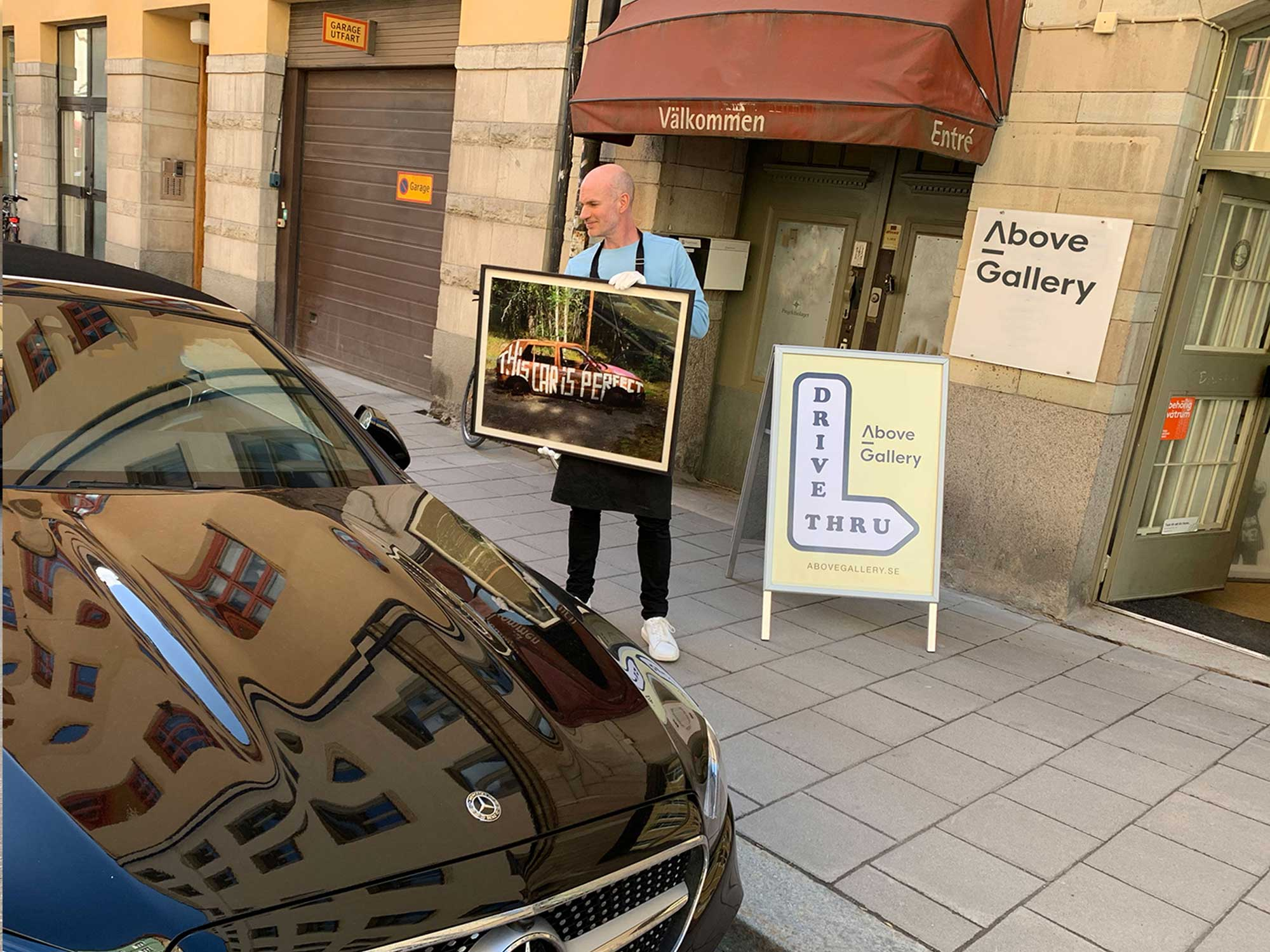 Above Gallery presents Sweden's first gallery with Drive-thru service